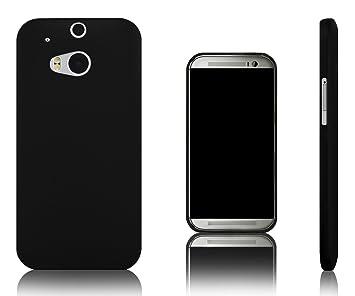 Xcessor Vapour Funda Carcasa de TPU Gel Flexible Para HTC One M8 (Nuevo Modelo M8). Negro