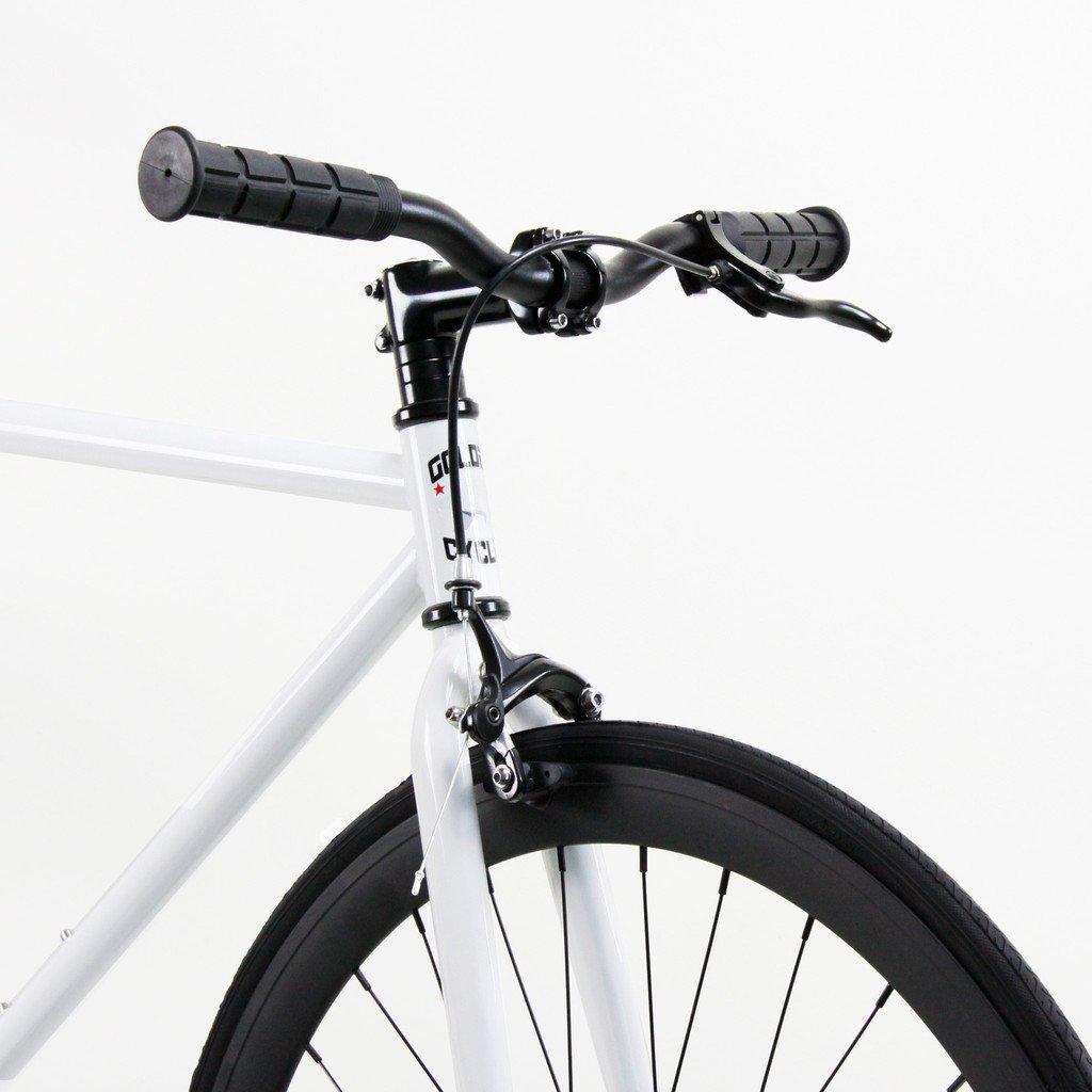 Golden Cycles Fixed Gear Single Speed Fixie Road Bike (Shocker, 55)