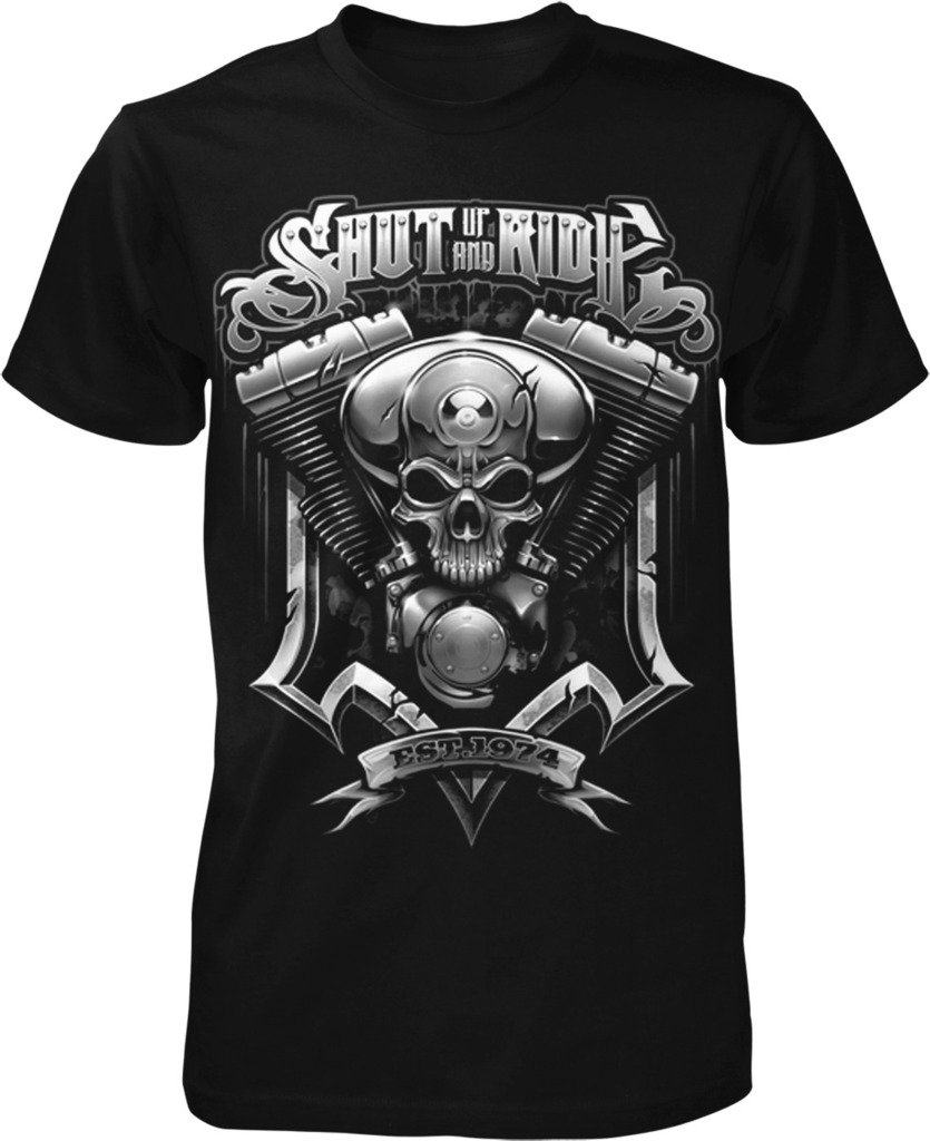 Shut Up And Ride Motorcycle Lover Custom Chopper T Shirt 3749