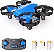 SNAPTAIN SP350 Mini Drone for Kids/Beginners, Portable Throw'n Go RC Quadcopter with 3 Batteries, Circle Flying, 3D Flip, Spe