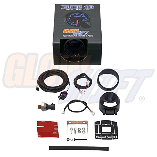 61z0fy7ZDrL._SX522_ amazon com glowshift elite 10 color 30 psi fuel pressure gauge  at couponss.co
