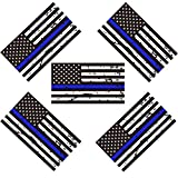 Kyпить 5 Pack New Reflective Tattered Thin Blue Line US Flag Decal Stickers for Cars & Trucks, 5 x 2.7 inch American USA Flag Decal Sticker Honoring Police Law Enforcement Vinyl Window Bumper Tape на Amazon.com
