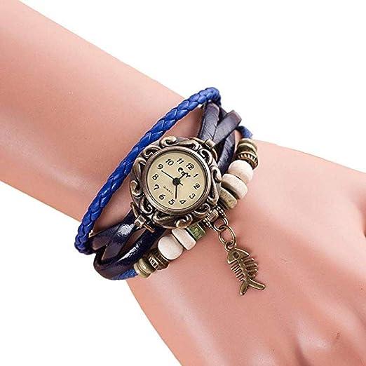 Promoción RPulsera Mujer Watcheson Venta Liquidación Señora Relojes Mujer Relojes Relojes Mujeres de Scpink (Azul Oscuro): Amazon.es: Relojes