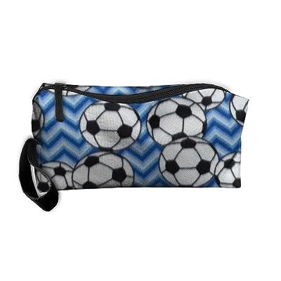 Soccer Blue Cosmetic Bag,Toiletry Bag,Travel Cosmetic Bag / Makeup Bag For Women