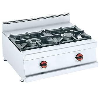 Macfrin S2 Cocina de Sobremesa a Gas 2 Fuegos 15.5 Kw