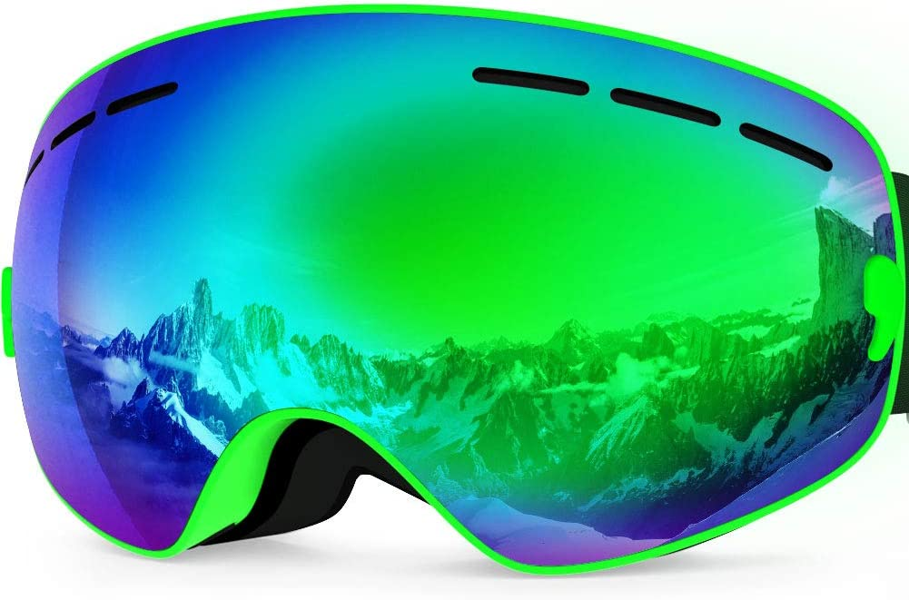 ZIONOR Lagopus X Mini Kids Snowmobile Snowboard Skate Ski Goggles with 100 UV Protection Anti-Fog Detachable Wide Angle Double Panoramic Lens for Youth