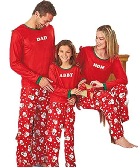 00bbf9c54e Amazon.com  Matching Family Pjs Christmas Entire Family Jammies Cotton  Pajamas Sets Best Kids Sleepwear Xmas D14  Clothing