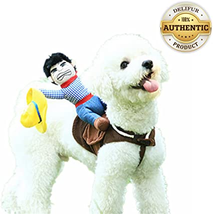 WORDERFUL Pet Costume Cowboy Rider Style Dog Costume Pet Suit Dog Carrying Costume