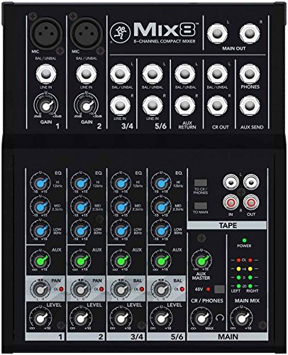 Mackie Mix8 8-channel Compact Mixer with Full Size Studio Headphones and XLR Cable by Mackie (Image #4)
