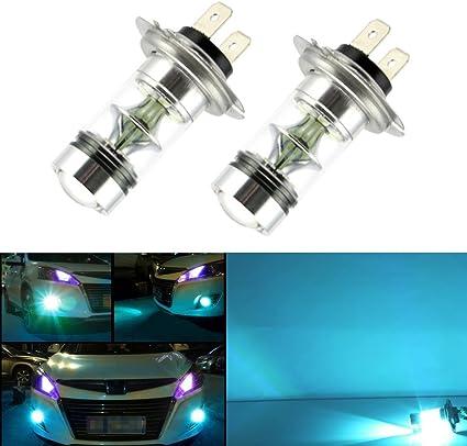 2 x H7 LED Niebla luz Bombilla 100W Alta Potencia 2323 SMD 8000K ...