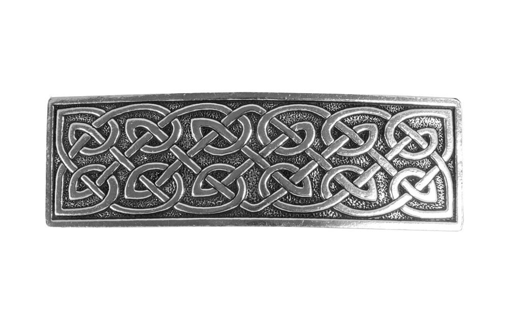 Large Celtic Hair Clip | Hand Crafted Metal Barrette Made in the USA with imported French Clips By Oberon Design … PB03