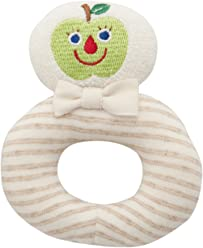 DAD-WAY Amorosa Organic Ring Rattle green apple TYAR02501 (japan import)