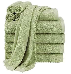 cotton 10 piece towel set 4 bath towels 2 hand towels and 4 washcloths bathroom sets. Black Bedroom Furniture Sets. Home Design Ideas