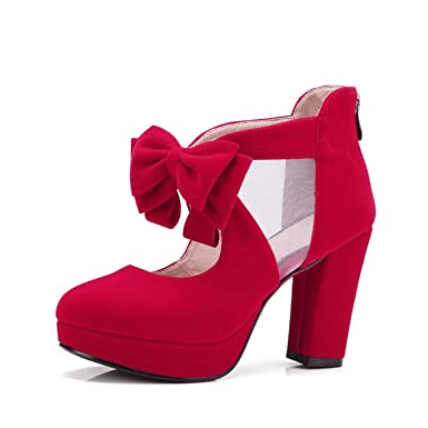 5c3854601c89 Image Unavailable. Image not available for. Color  Women s Sweet Bow Party  Heels