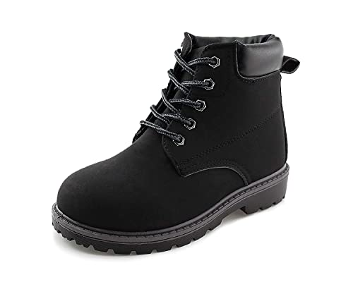 4c6db45f489 Jabasic Kids Lace-Up Ankle Boots Boy Girl Waterproof Outdoor Workboots