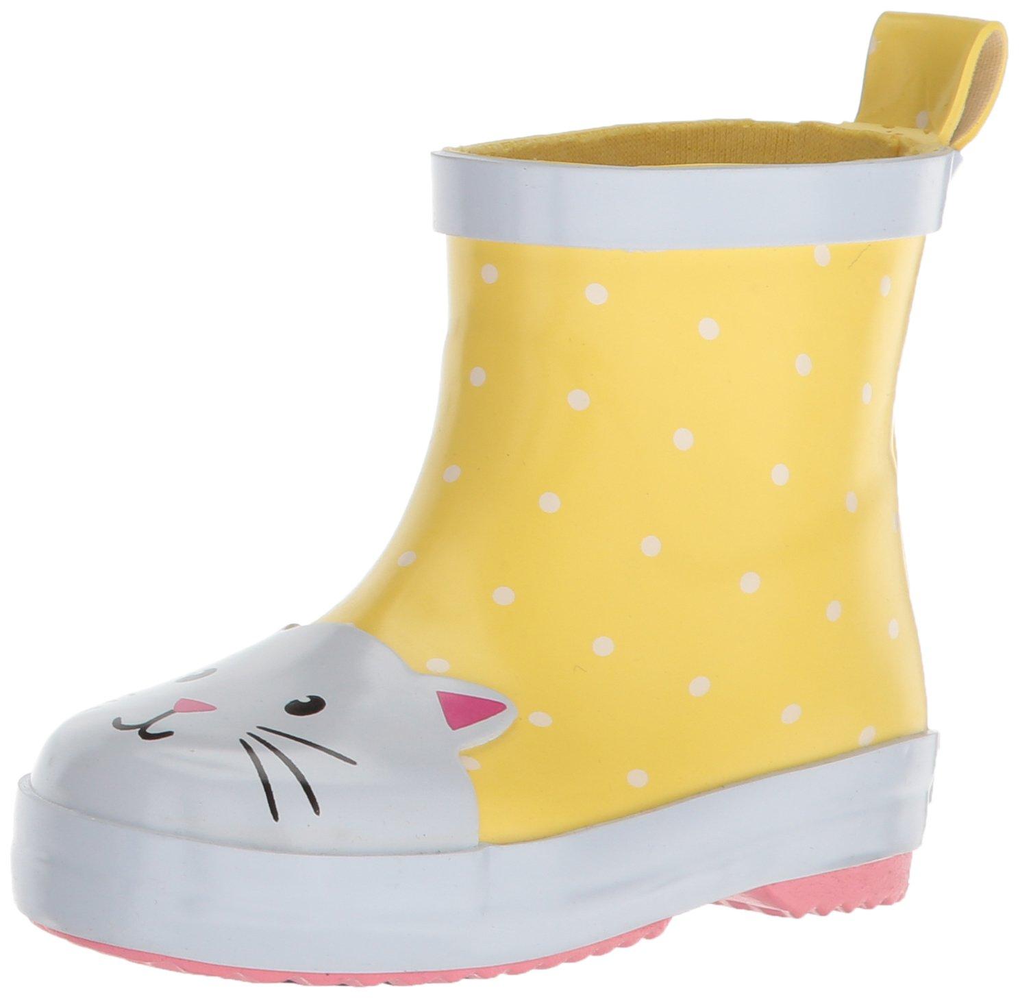 Carter's Girls' Rainboot Rain Boot, Yellow, 5 M US Toddler