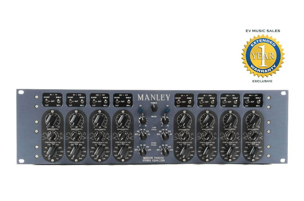 Manley Massive Passive 2-channel, 4-band Vacuum Tube Equalizer with 1 Year Free Extended Warranty