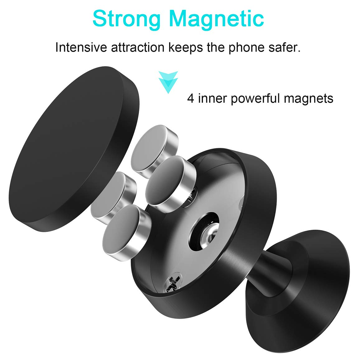 Universal Magnetic Cell Phone Holder for Car Curllon VGEW-FT01 Car Phone Mount