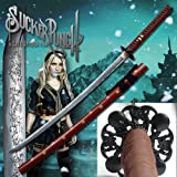 S1808 MOVIE SUCKER PUNCH BABY DOLL LADY WOMEN KATANA SAMURAI SWORD W/ FULL ENGRAVINGS 42""
