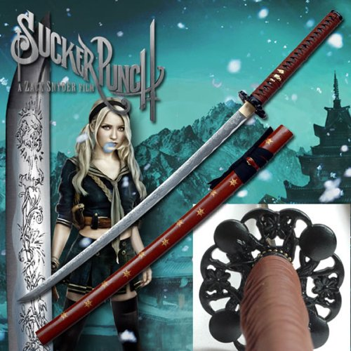 (AIT Collectibles S1808 Movie Sucker Punch Baby Doll Lady Women Katana Samurai Sword W/Full Engravings 42