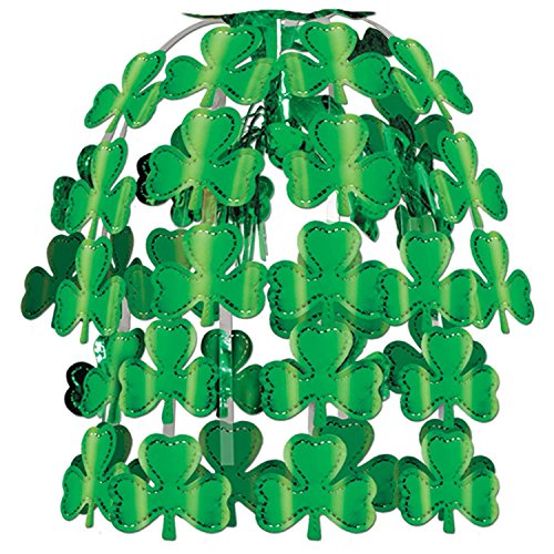 Hanging Cascade - Pack of 12 Kelly Green Shamrock Hanging Cascade Party Decorations 24