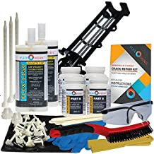 Concrete Foundation Crack Repair Kit - Ultra-Low Viscosity Polyurethane - FLEXKIT-1150-20