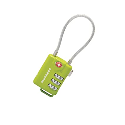 198b16e54a83 Amazon.com : AceCamp TSA Cable Combination Lock : Sports & Outdoors