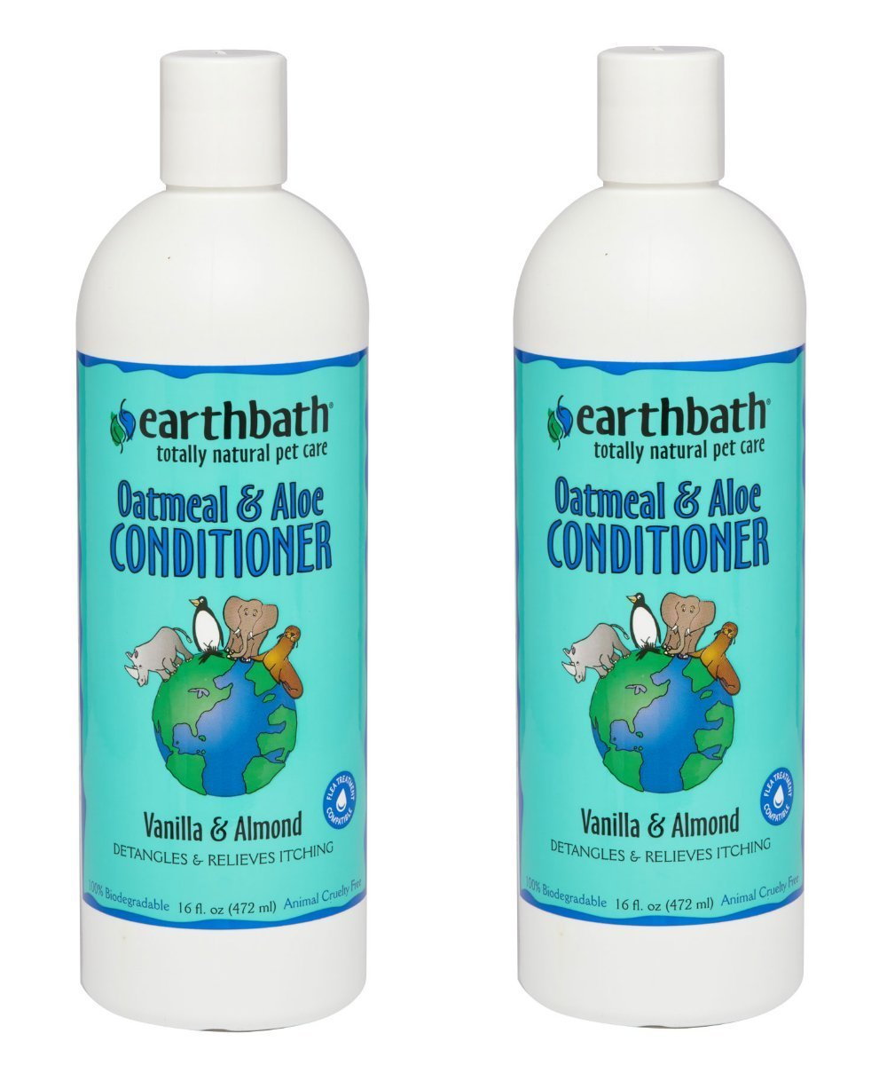 Oatmeal and Aloe Conditioner Pack of 2 Oatmeal and Aloe Conditioner Pack of 2 Earthbath All Natural Oatmeal and Aloe Dog Cat Moisturising Conditioner 16 Ounce (2 Pack)