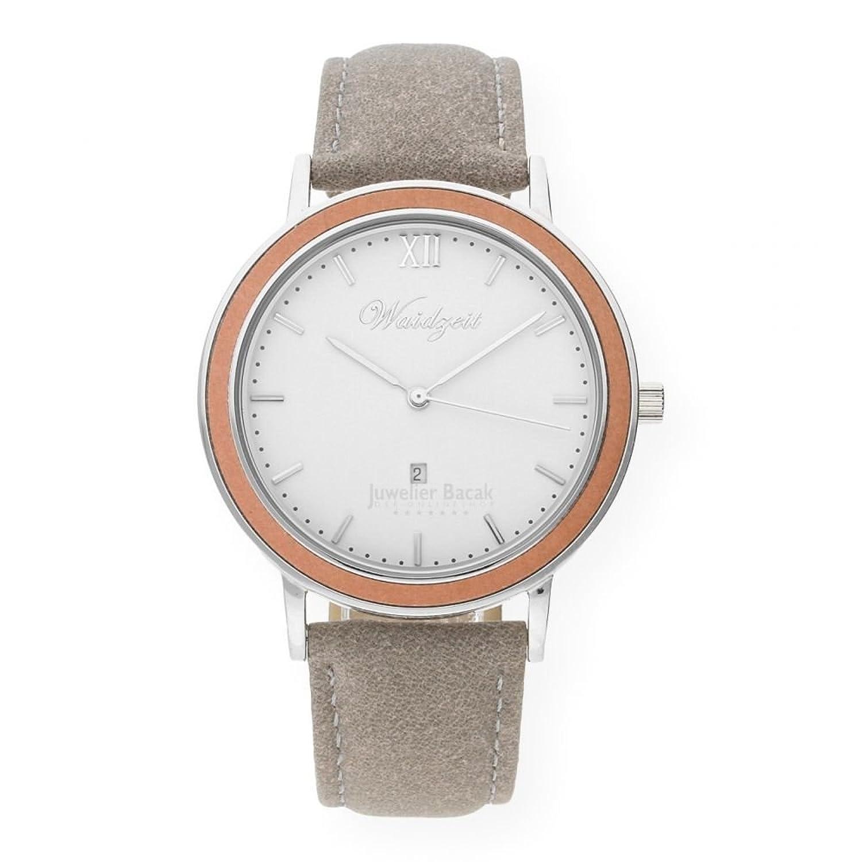 Waidzeit Unisex-Uhr Holz ALPIN Winterzeit Armbanduhr WZ02