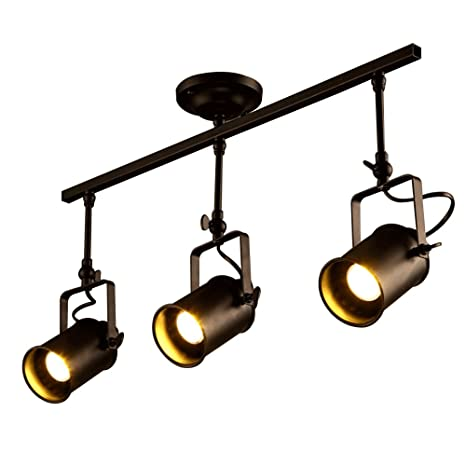 Vintage track lighting Ceiling Vintage Matte Black Spotlight Motent Industrial Retro Adjustable Metal Ceiling Lamp Antique Flush Mounted Youtube Vintage Matte Black Spotlight Motent Industrial Retro Adjustable
