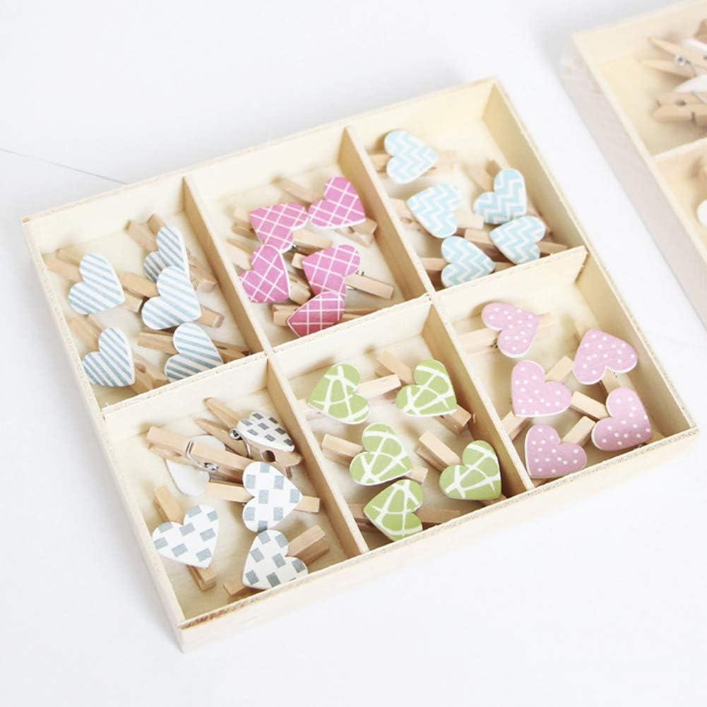 100 pcs photo carte postale pince /à linge en bois W Ficelle de jute ongles D/écor mural bois Craft Pinces Scrapbooking