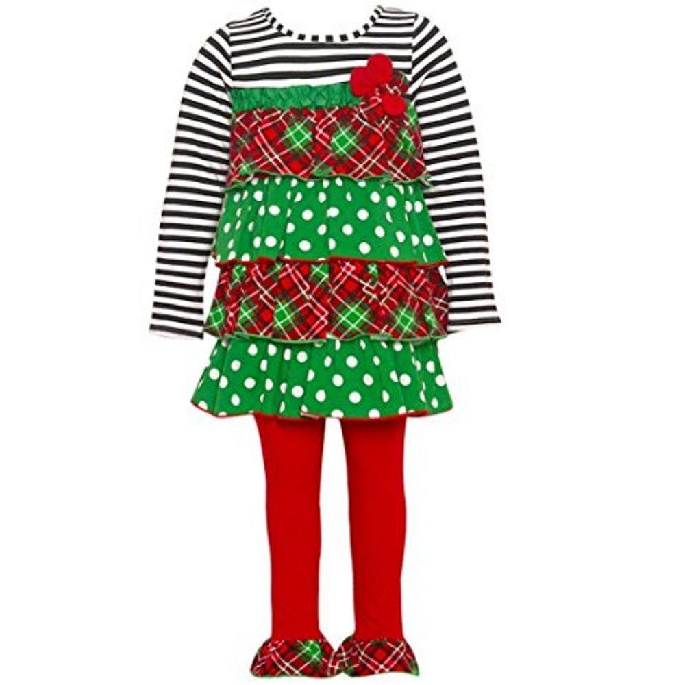 驚きの安さ Bonnie Jean Baby Girls赤緑点線格子柄階層型チュニックレギンスセット12 – マルチカラー – 24 m S マルチカラー B01M22Z5KJ B01M22Z5KJ, 香住町:d37e9747 --- a0267596.xsph.ru