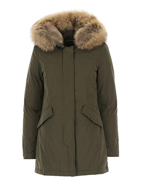 2778cc135c WOOLRICH W's Luxury Arctic Parka Verde Scuro WWCPS2604 S: Amazon.it ...