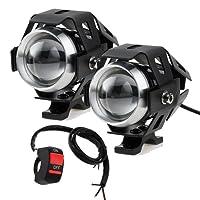 Prozor faretti frontali da moto con interruttore universale a 3 pulsanti, con luci antinebbia LED CREE U5 da 3000 LM e 125W