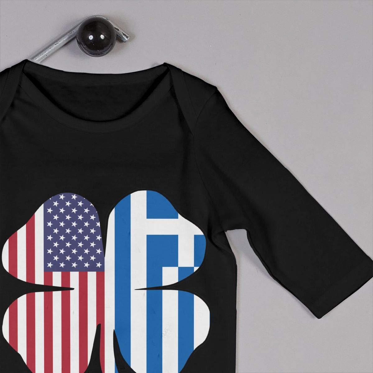 LBJQ8 American Greece Greek Flag Shamrock Baby Girls Soft /& Breathable Romper Jumpsuit