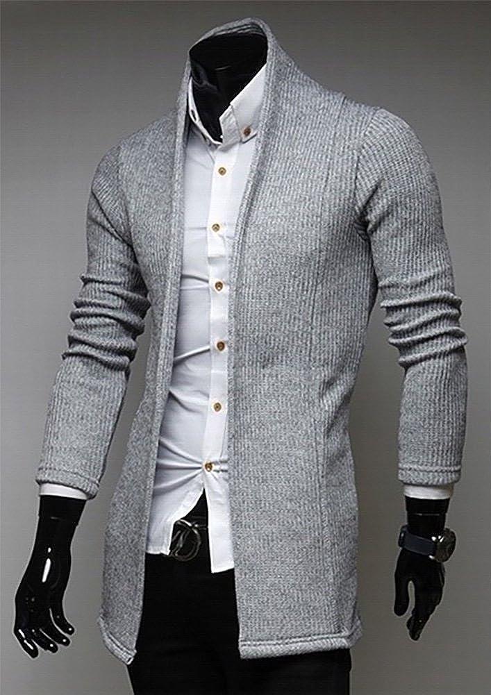 MISSMAO Cardigan da Uomo Cappotto Maglione Slim Giacca con Scollo a V Maglioni di Maglia
