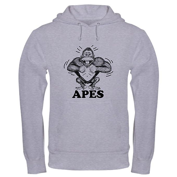 4d6ffbf4b545 Amazon.com  CafePress Ape With Word And Motion Marks Sweatshirt  Clothing