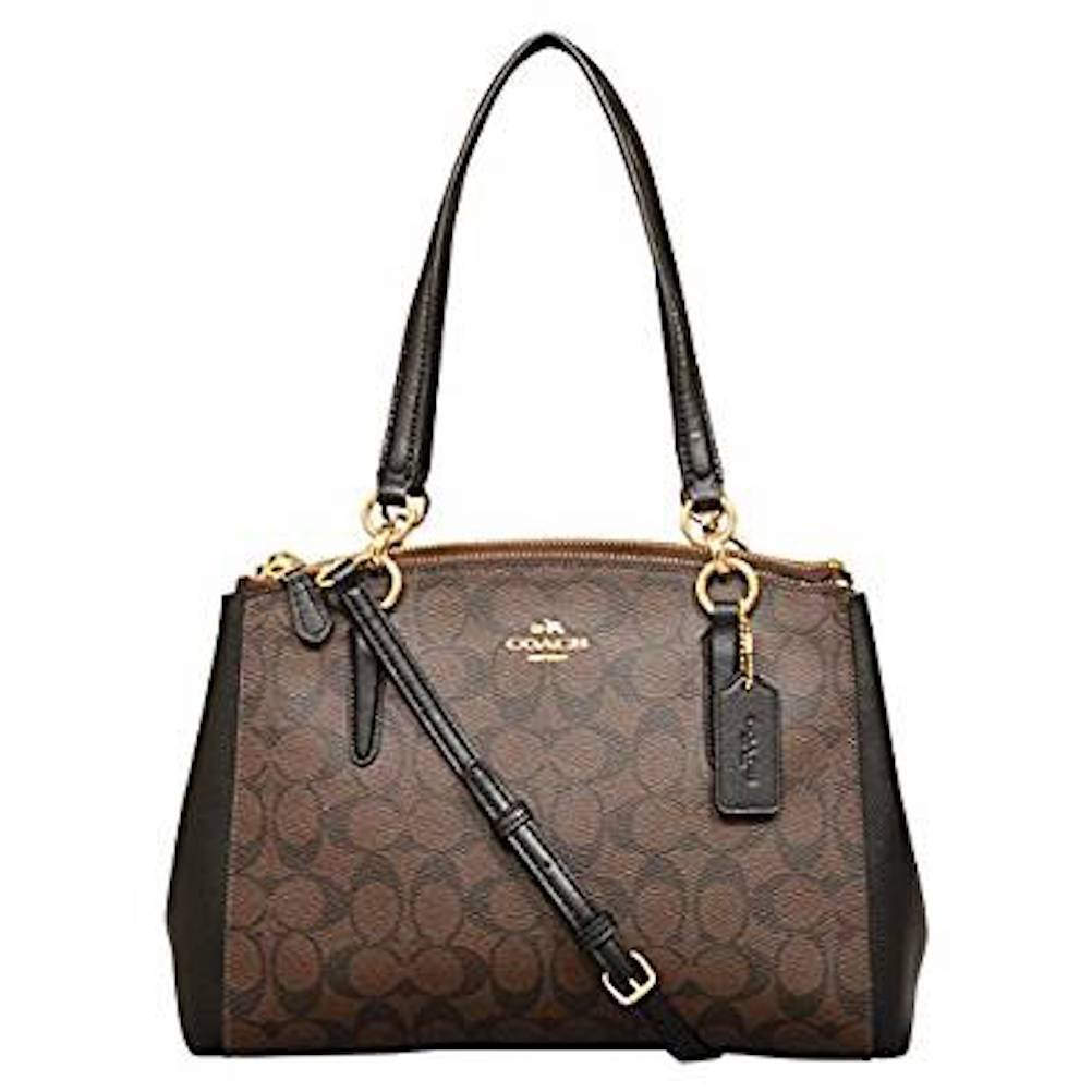 Coach Signature Small Christie Carryall in Brown / Black