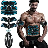 [2018 New Version] Abdominal Toning Belt & EMS Abs Trainer Exercise Massger pads with 6 Kinds of Exercise Modes/10 Levels of Intensity Healthy Fitness for Men & Women No More Fat