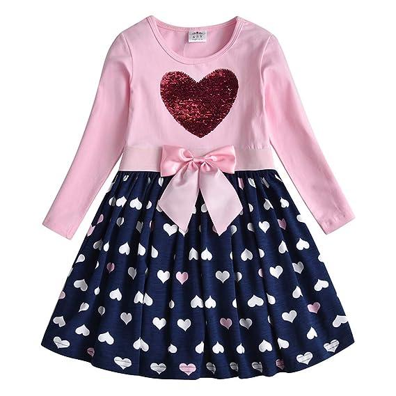 Vikita Vestido Para Niñas Algodón Princesa Primavera Otoño Casuales Bebe Niñas 1 8 Años