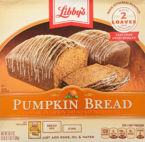 - Libby's All Natural Pumpkin Bread Kit with Icing - Makes 2 Loaves