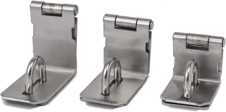 Pack of 1 3//4//5 Inch Padlock Hasp 90 Degree Door Latch Stainless Steel Door Lock Anti-Rust 4inch