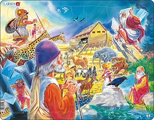 Larsen Puzzles Old Testament Children's Educational Jigsaw Puzzle - 53 Piece Tray & Frame Style Puzzle - Exclusive Premium Hand Made Puzzles - Imported from Norway