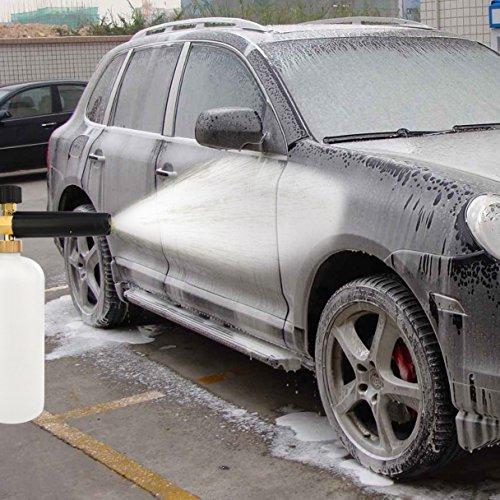 cnomg Ajustable Pistola de espuma de lavado de automóviles, coche lavar limpiador a presión Jet lavar 1/4