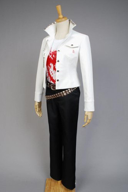 Amazon.com: YuanCos Leon Kuwata Ultimate Baseball Star White Casual  Halloween Cosplay Costume: Clothing