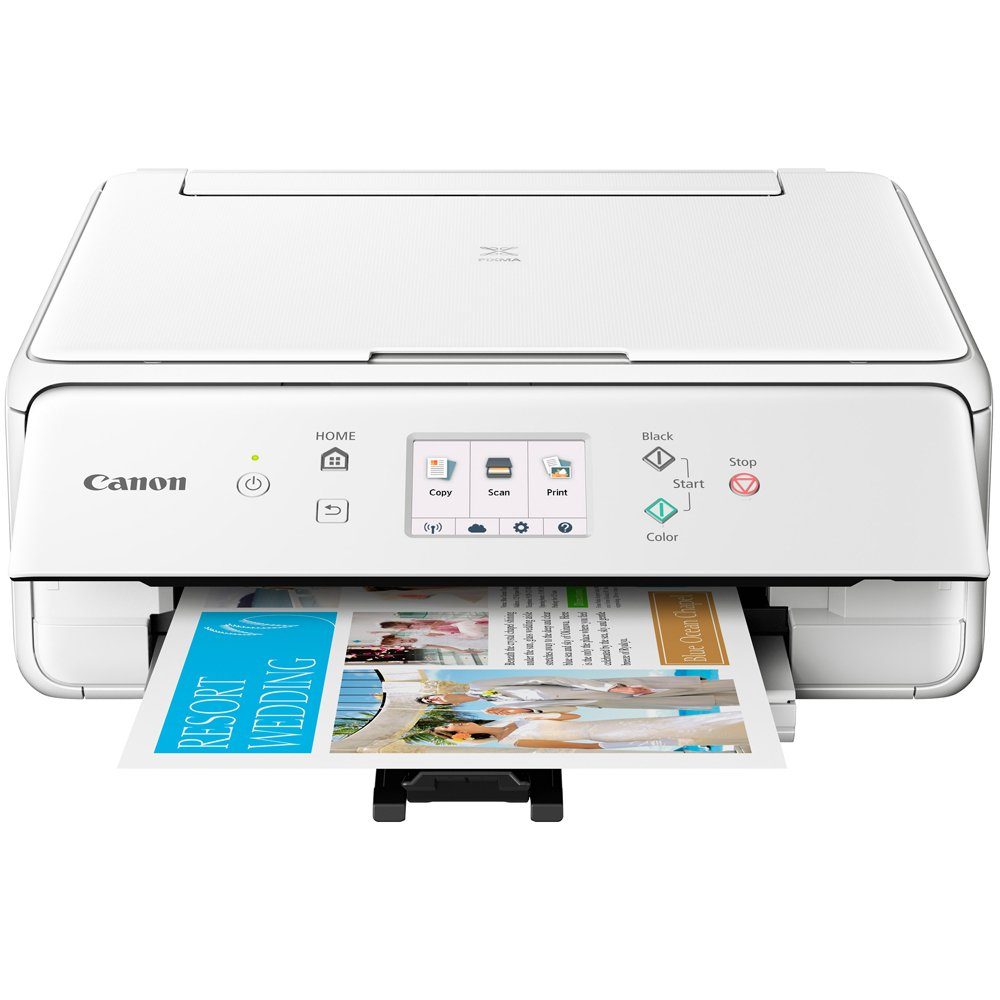 Canon PIXMA TS6120 Wireless All-in-One Compact Printer with Scanner & Copier White (2229C022) Corel Paint Shop Pro X9 Digital Download & High Speed 6-foot USB Printer Cable by Canon (Image #4)