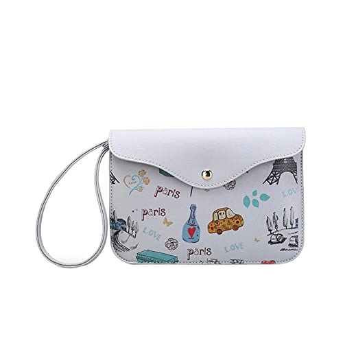 Rrimin Fashion Print Women Clutch Bag PU Leather Envelope Bag Handbag(Grey)   Amazon.in  Shoes   Handbags 09bb04b0ae3d0