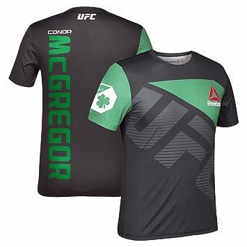 Reebok Conor McGregor UFC Fight Kit Official (BlackGreen) Walkout Jersey Men's