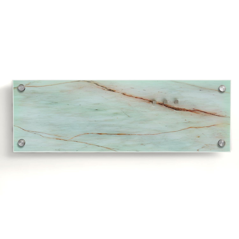 Glassboard with Magnets White Brick 20x60cm Dry Erase Notice Board in 2 Sizes casa pura Glass Magnetic Memo Board