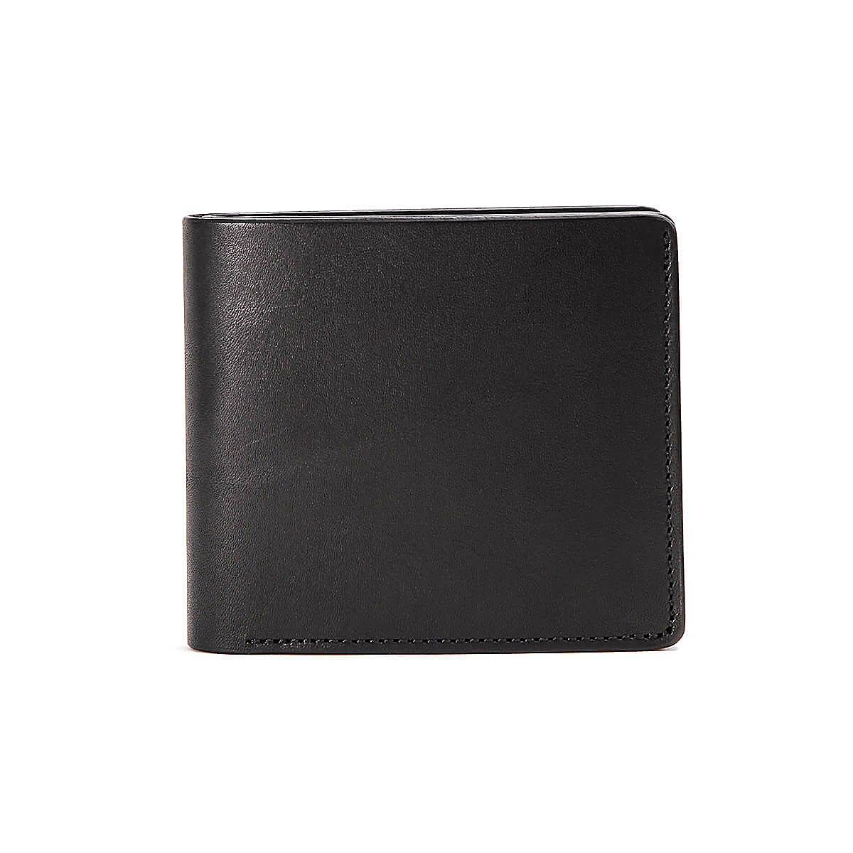 スロウ 2つ折り財布 double oil SO607D Choco B07DT559CY ブラック ブラック -
